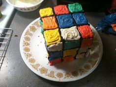 Rubics Cube cake - how cute!