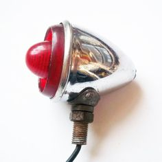 Vintage Miller Bullet-Style Bicycle Taillight - Streamline Red Light for Bike - Chrome - 1950s Bike Accessory - Mid Century Retro Tail Light