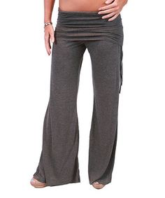 Look at this #zulilyfind! Coobie Charcoal Maternity Lounge Pants - Women by Coobie #zulilyfinds