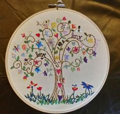 Basic Hand Embroidery Stitches, Hand Embroidery Projects, Crewel Embroidery Kits, Embroidery Monogram, Cross Stitch Embroidery, Embroidery Patterns, Embroidery Hoops, Bordado Floral, Needlework