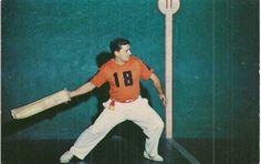 Jai Alai Player with Cesta | eBay