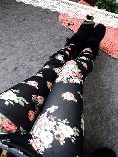 Black Rose Printing Legging