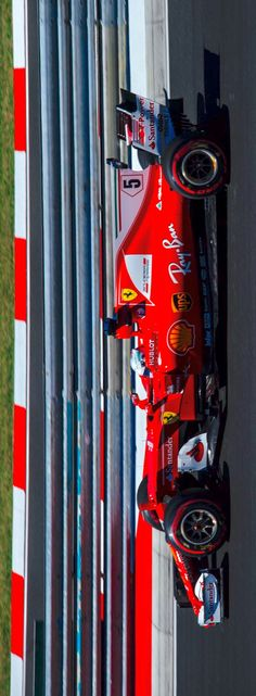 2017/7/30:Twitter: .@ScuderiaFerrari: #Seb5 is leading the race, #Kimi7 is  1.6 to him in P2, BOT P3, 1.3 to Kimi #HungarianGP