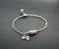 Pea Pod Bracelet Two Peas in a Pod Bracelet Peapod Jewelry