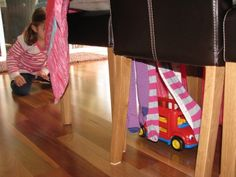 Imaginative Play: Kids Car Wash Tunnel. Great rainy day activity for older babies, toddlers and pre-schoolers to help build gross motor skills.