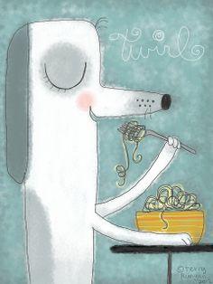 Twirl--Illustration Friday