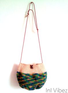 Retro inspired hobo bag crochet crossbosy bag leather by InIVibez, $88.08