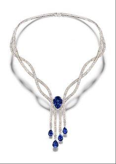 http://rubies.work/0474-sapphire-ring/ PIAGET Mediterranean Garden Blue Sapphire Necklace