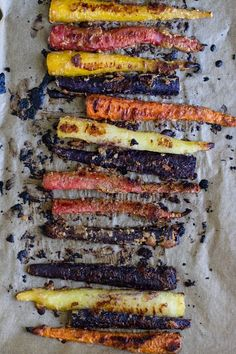 Cumin Tahini Roasted Carrots | edible perspective