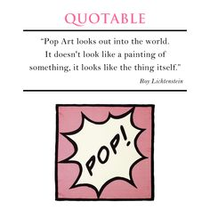 Pop Art Quote