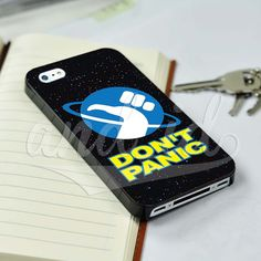 Hitchhiker's Guide Don't Panic for iPhone 5/5c/6/6 Plus Black Hard Case #UnbrandedGeneric
