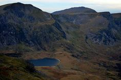 Llyn idwal from the summit of tryfan north wales