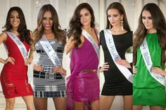 Top Ten Finalists for Top Model Round at Miss Supranational 2015