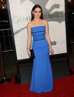 Emilia Clarke in Victoria Beckham