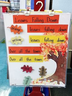 Leaves Falling Down Chart