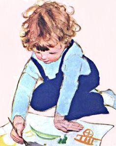 My Puzzles - Children - Vintage - Child Painting