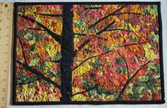 Quilted Wallhanging Tree with Bright by MulberryPatchQuilts. Confetti quilt