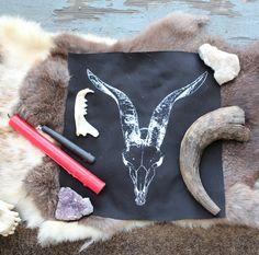 Goat Skull Backpatch
