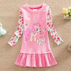 NWT-My-Little-Pony-Holiday-Girls-Dress-Top-Party-T-Shirt-Girls-Clothes-Size-5-6