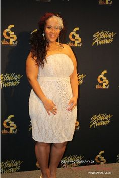 Gospel Singers Mary Mary's younger sister at the Stellar Awards.