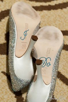 """Fun way to say """"I do"""".  Shoe sticker set for bride and groom (his says """"Me too"""").  These make for such fun and memorable wedding photo opps! @shopYHEA"""