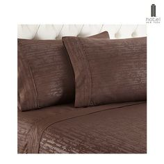 Hotel New York 1600 Series Sheets with Embossed Bamboo Design - Assorted Colors at 81% Savings off Retail!