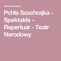 Pchła Szachrajka - Spektakle - Repertuar - Teatr Narodowy