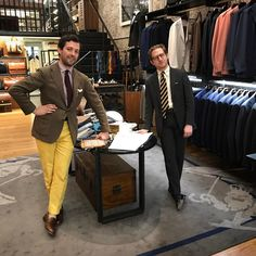 abitofcolor — Richard and Ben at The Armoury NYC. #menstyle...