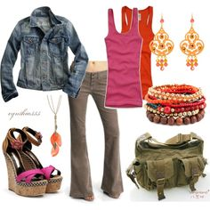 """""""Casual Plum and Orange"""" by cynthia335 on Polyvore"""