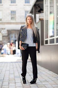 LFW Street Style: Sporty Cuffed Pants 2