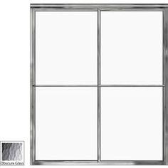 Basco 56-In To 59-In W X 71.5-In H Silver Sliding Shower Door 7150-60