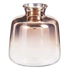 Copper Glass Vase H 11 cm