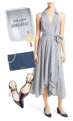 """""""dress"""" by masayuki4499 ❤ liked on Polyvore featuring Milly, Miu Miu, PTM Images and Michael Kors"""