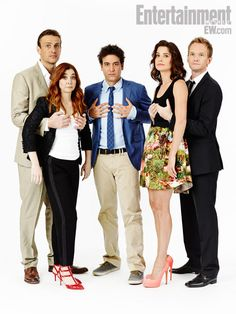 Jason Segal, Alyson Hannigan, Josh Radnor, Cobie Smulders, Neil Patrick Harris, How I Met Your Mother (Pinning because 3 of these 5 people are Whedonverse alumni)