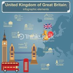 Vector Art : United Kingdom of Great Britain infographics, statistical data,