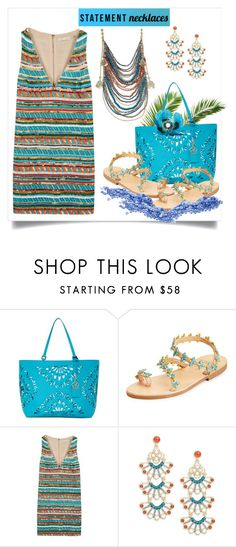 """""""""""Grecian Adventure""""!"""" by onesweetthing ❤ liked on Polyvore featuring Trina Turk, Elina Linardaki, Alice + Olivia, Nanette Lepore and statementnecklaces"""