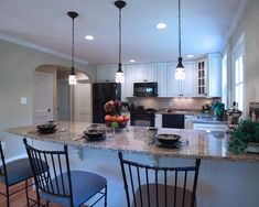 Kitchen Design White Cabinets Black Appliances kitchen with white cabinets and black appliances counter | for the