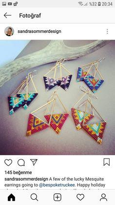 Seed Bead Jewelry, Bead Jewellery, Seed Bead Earrings, Beaded Earrings, Earrings Handmade, Beaded Jewelry, Loom Bracelet Patterns, Seed Bead Patterns, Jewelry Patterns