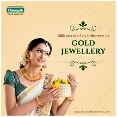 Feel the excellence of craftsmanship and perfection of a century Shop Online : www.chungathjewellery.com #goldjewellery #traditionaljewellery