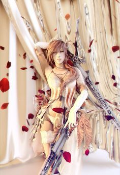 Lightning Farron: Queen of Spades, LaceWingedSaby サビのレースの翼 on ArtStation at https://www.artstation.com/artwork/2LgDa #lightingfarron #finalfantasy #petals #squareenix #burlesque #queen #swords #artworks #fanart #lacewingesaby