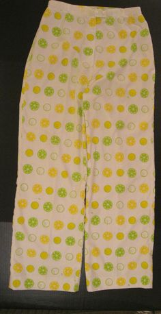VESTED GENTRESS VINTAGE SIZE 12 PANTS,SLACKS;LEMONS & LIMES & GOLF;SCREEN PRINT #VestedGentress #CasualPants