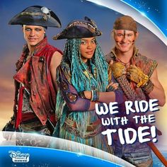 We Ride with the Tide - Uma, Harry & Gil - Descendants Wicked World, Disney Channel Descendants, High School Musical, China Anne Mcclain, A Girl Like Me, Thomas Doherty, Live Action Movie, Action Movies, Decendants