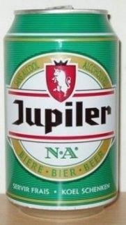 Cerveja Jupiler N.A., estilo Sem álcool, produzida por Brasserie Piedboeuf, Bélgica. 0.5% ABV de álcool.