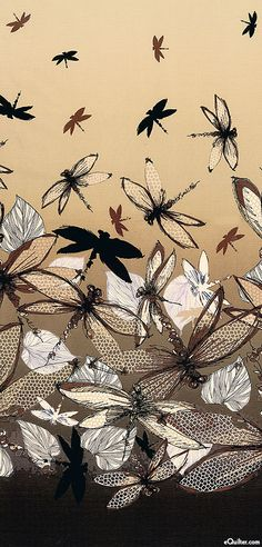 Dragonflies swirl over boys bed and wrap around tree