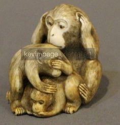 A Japanese netsuke of the three wise monkeys (Japan)