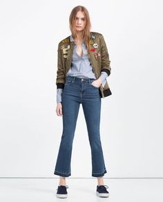 ZARA - COLLECTION AW16 - MINI FLARE JEANS