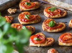 Kleine Pizzaherzen