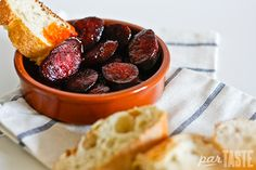 The most simple but decadant of Spanish Tapas - Chorizo al Vino Tinto » World Recipes by parTASTE