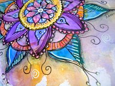 Art work by DionDior, via Flickr  She has such vibrant and colorful paintings! I want some of those bright watercolor paints!