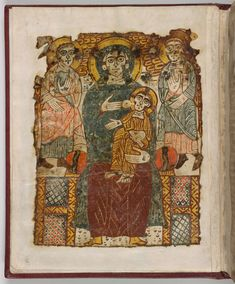 Madonna and child. Possible model for Irish Book of Kells where the angels are too high? Roman Era, Book Of Kells, Archangel Michael, Madonna And Child, Illuminated Manuscript, Christian Art, Archaeology, Egypt, Medieval